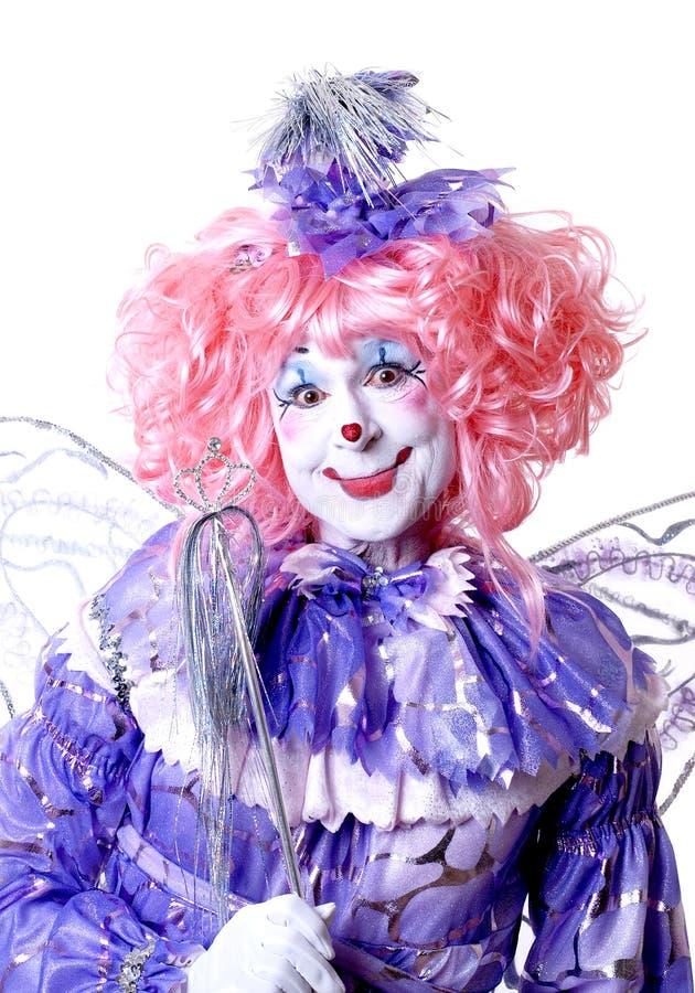 Weiblicher feenhafter Clown lizenzfreie stockbilder