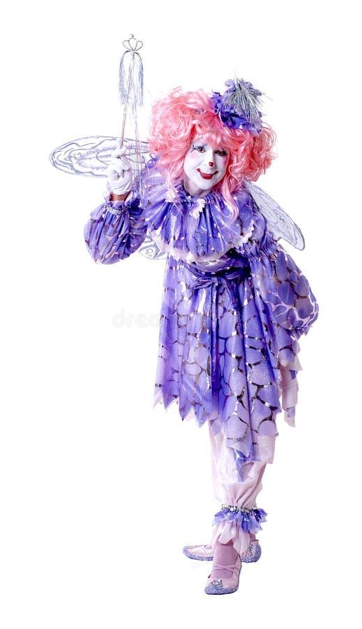 Weiblicher feenhafter Clown lizenzfreies stockbild