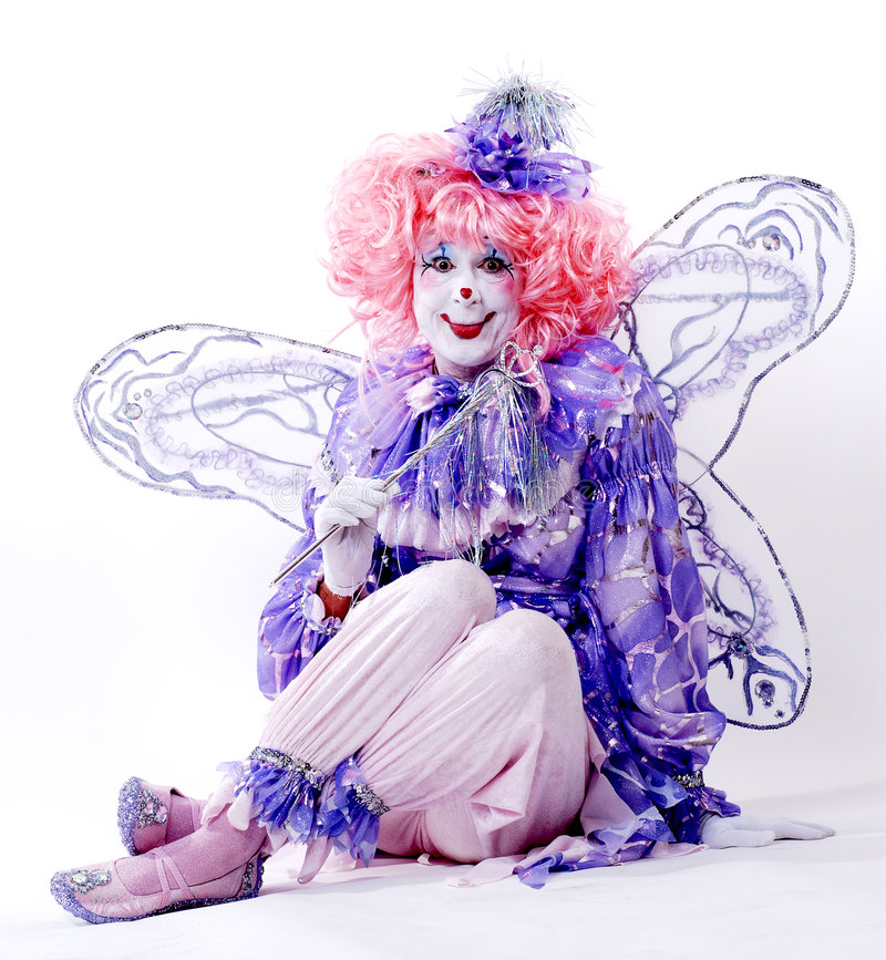 Weiblicher feenhafter Clown stockfotografie