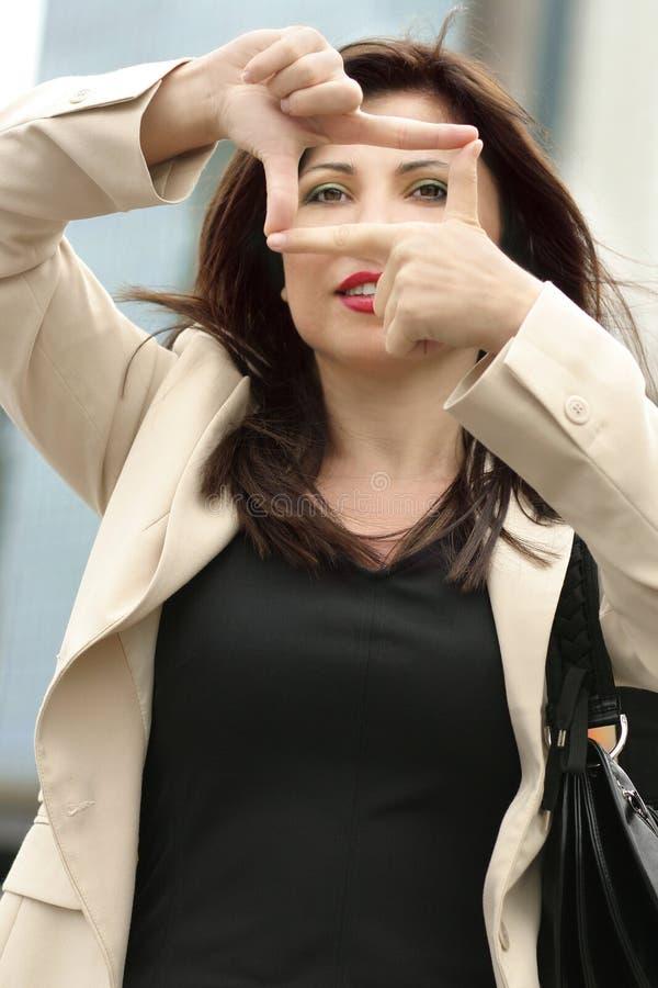 Weiblicher Fokus stockfoto