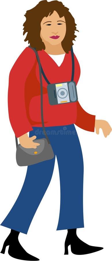 Weiblicher Fotograf vektor abbildung