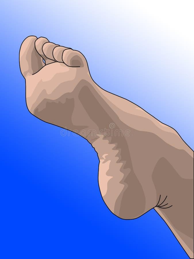 Weiblicher Fuß lizenzfreie stockbilder