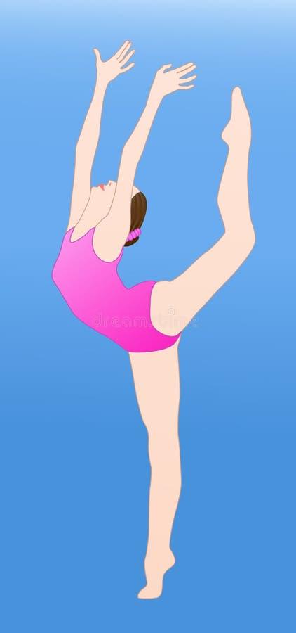 Weiblicher Gymnast stock abbildung
