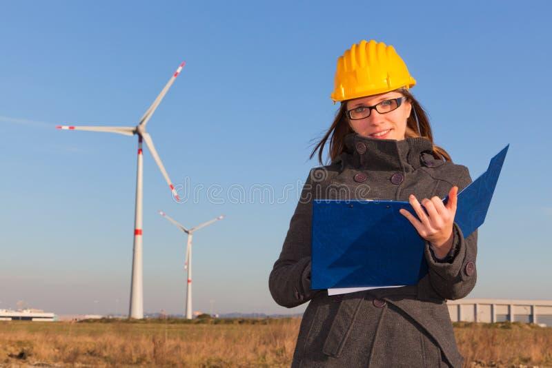 Weiblicher Ingenieur lizenzfreie stockfotografie