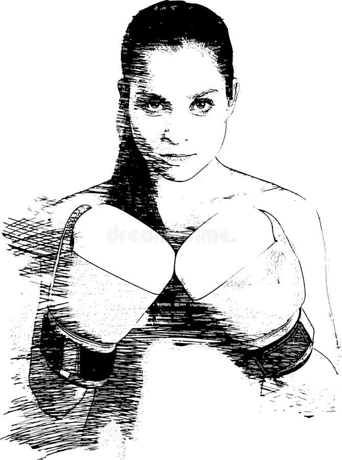 Weiblicher Kämpfer vektor abbildung