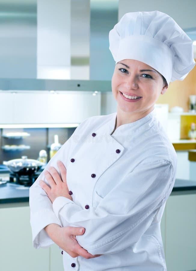 Weiblicher Koch lizenzfreies stockbild