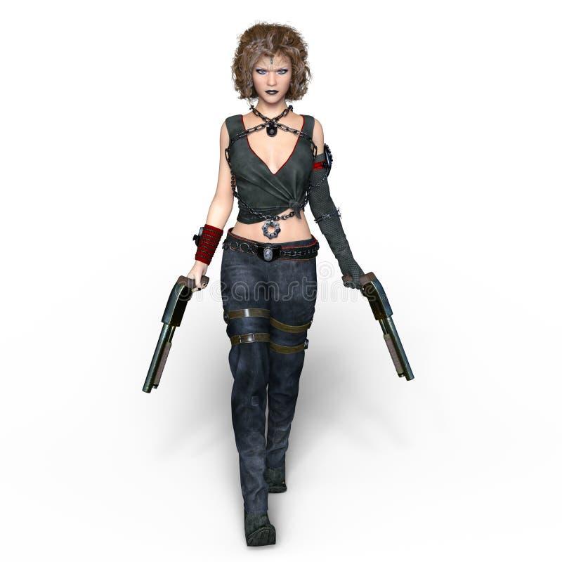 Weiblicher Krieger stockfotos