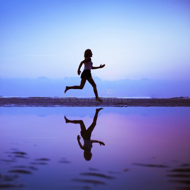 Weiblicher Läufer stockfoto