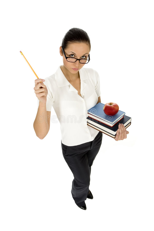 Weiblicher Lehrer stockbild