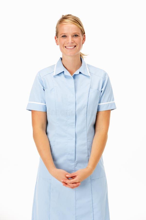 Weiblicher medizinischer Fachmann im Studio lizenzfreies stockbild