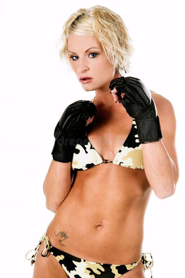 Weiblicher MMA Kämpfer Lizenzfreie Stockbilder