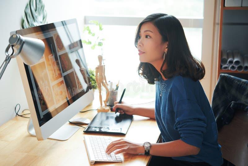 Weiblicher Netz-Designer lizenzfreies stockfoto