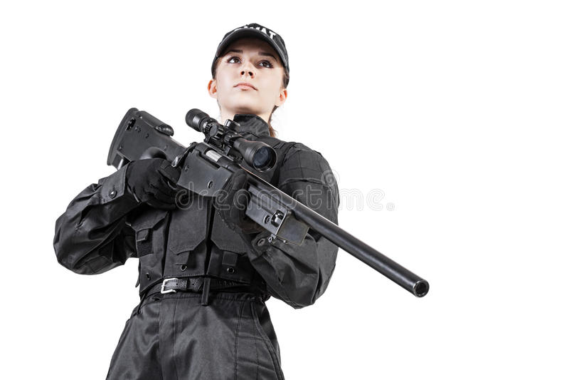 Weiblicher Polizeibeamte stockbilder