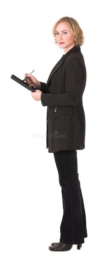 Weiblicher Prüfer lizenzfreie stockfotos