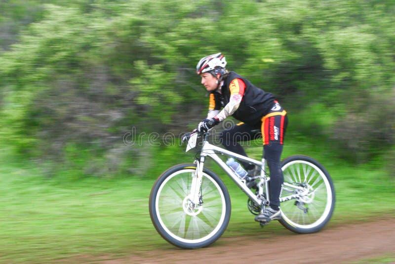 Weiblicher Radfahrer lizenzfreie stockbilder