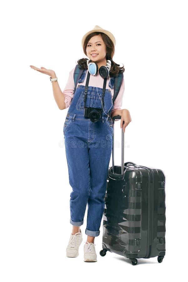Weiblicher Reisender lizenzfreies stockbild