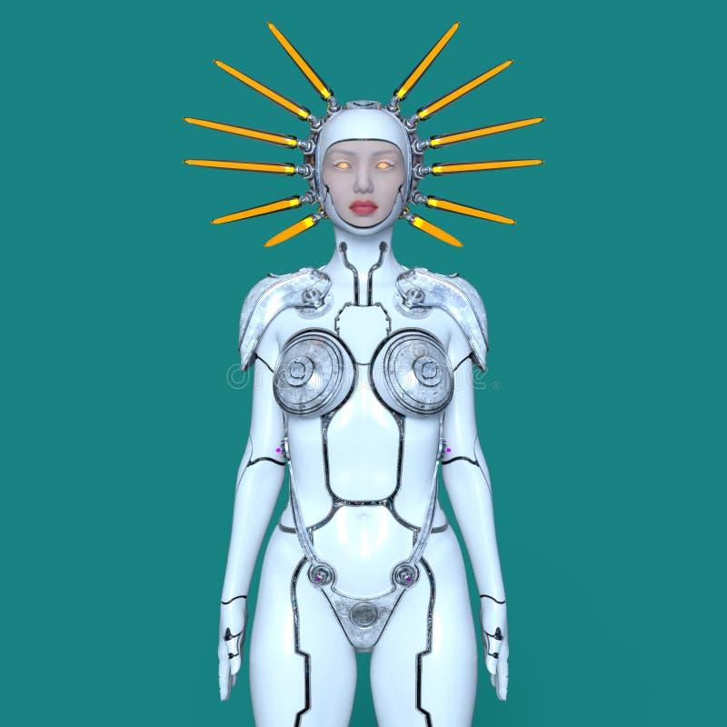 Weiblicher Roboter vektor abbildung