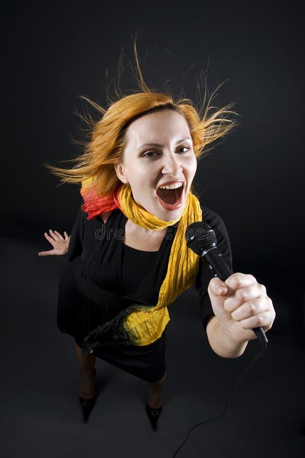 Weiblicher Sänger stockfotos