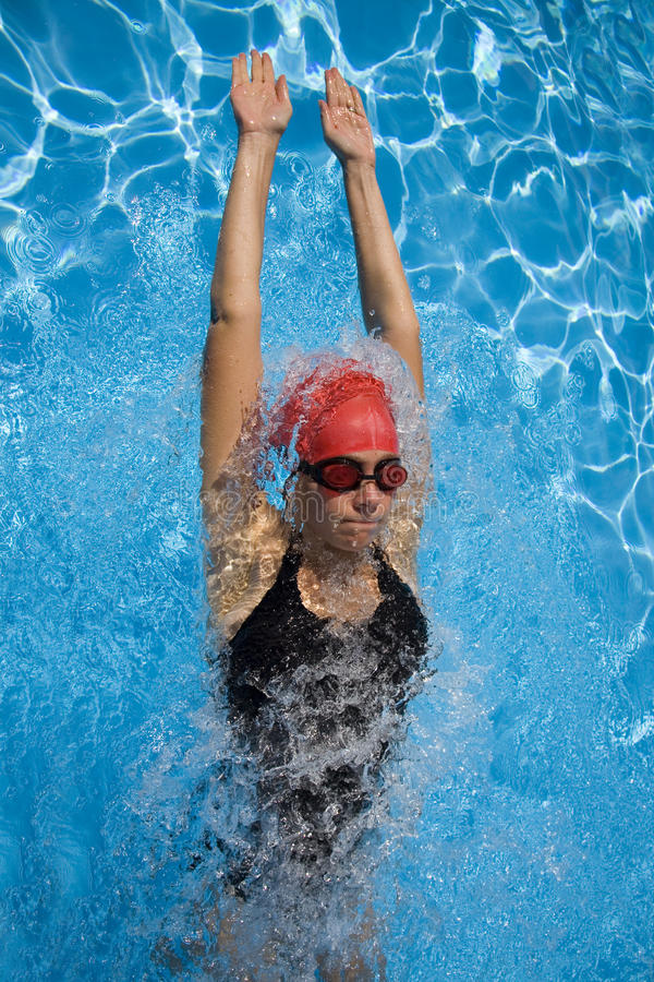 Weiblicher Schwimmer lizenzfreie stockbilder