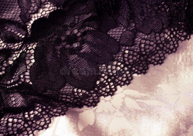 Weiblicher Spitzen- Unterwäschehintergrund Stockfotos