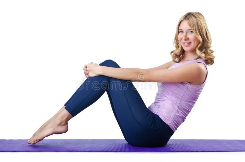 Download Weiblicher Sportler, Der Übungen Tut Stockfoto - Bild von aerobics, schön: 26373520
