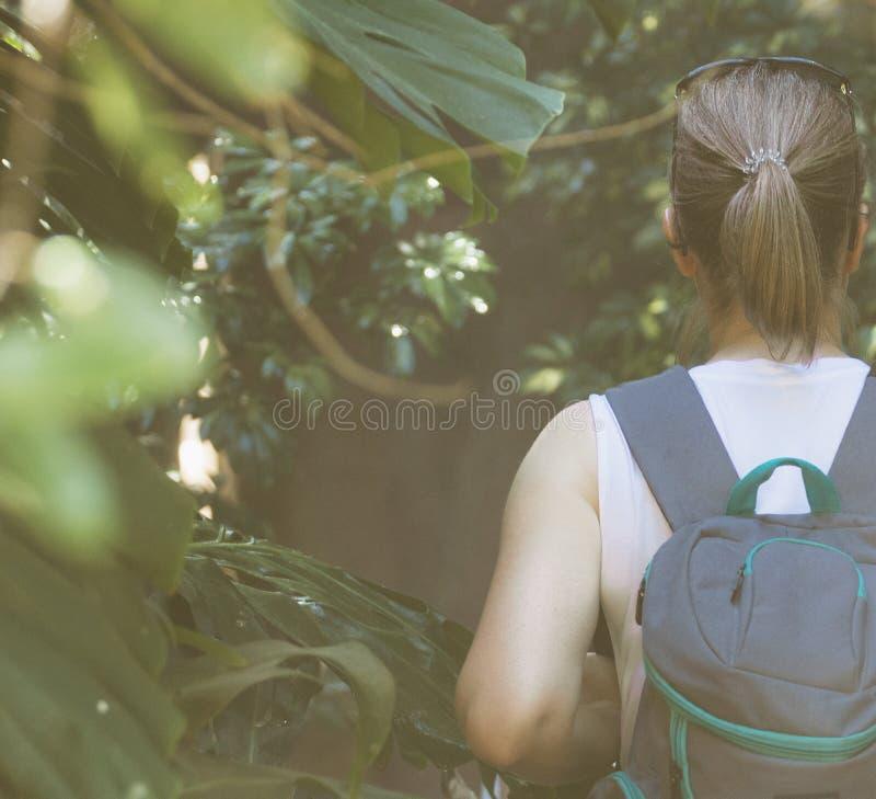 Weiblicher Tourist stockfotografie