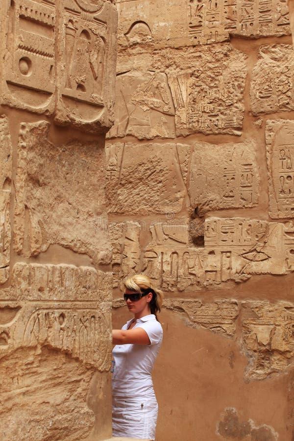 Weiblicher Tourist stockbilder