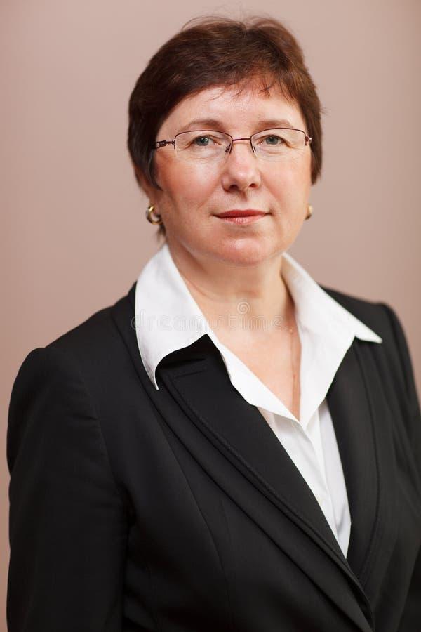 Weiblicher Unternehmensleiter lizenzfreie stockbilder