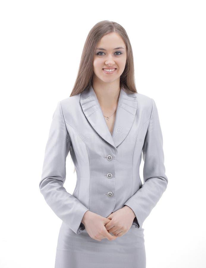 Weiblicher vollziehendassistent Getrennt auf einem weißen Hintergrund stockbilder