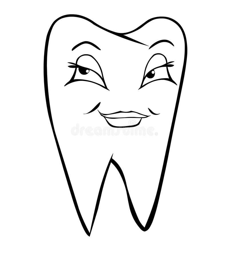Weiblicher Zahn lizenzfreie abbildung