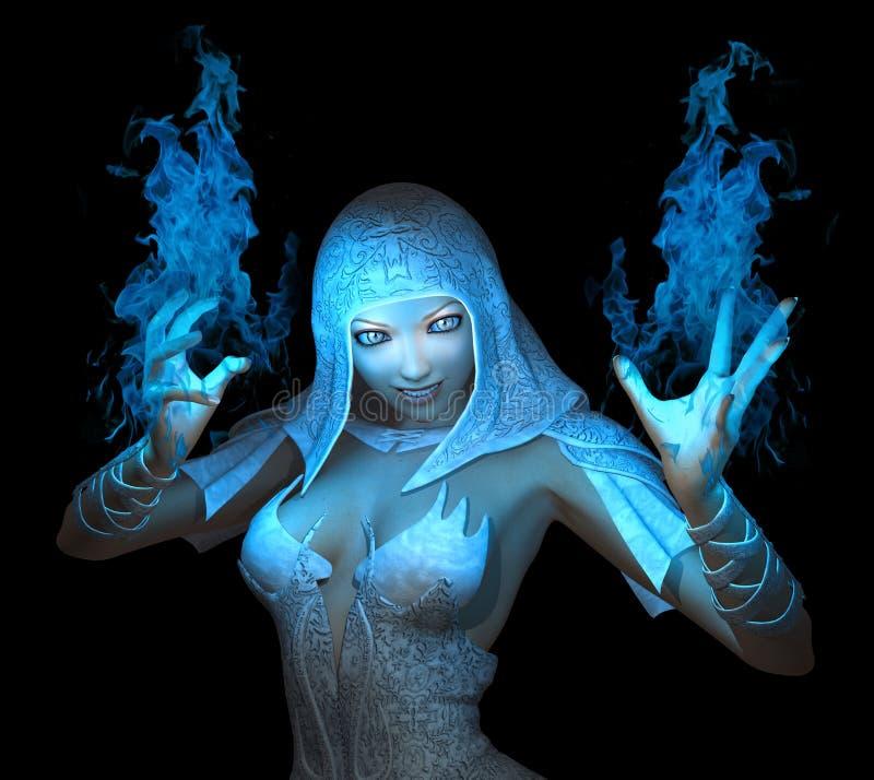 Weiblicher Zauberer lizenzfreies stockbild