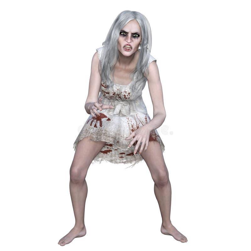 Weiblicher Zombie lizenzfreie stockfotografie