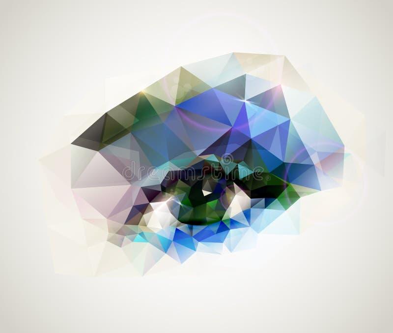 Weibliches Auge lizenzfreie abbildung