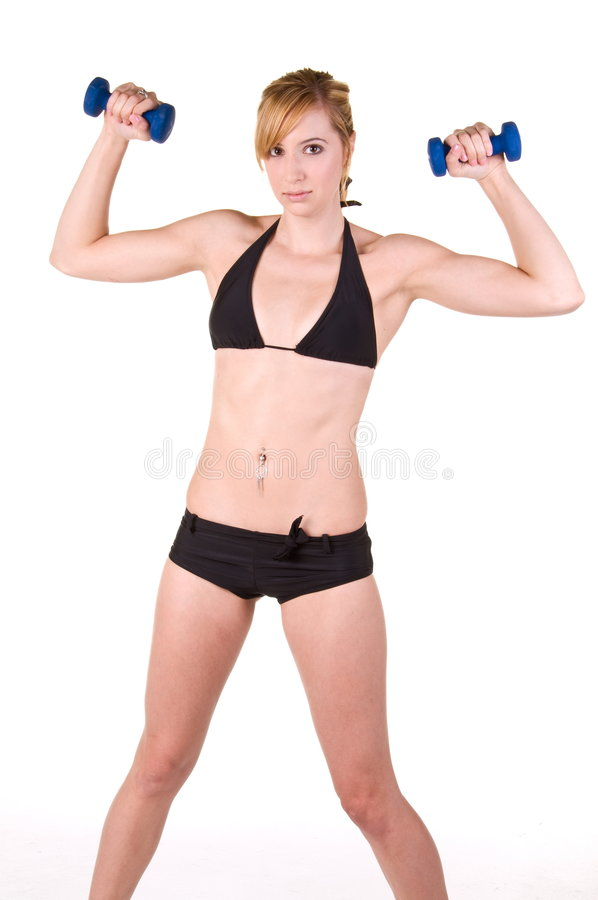Weibliches Gymnastik-Training lizenzfreies stockfoto