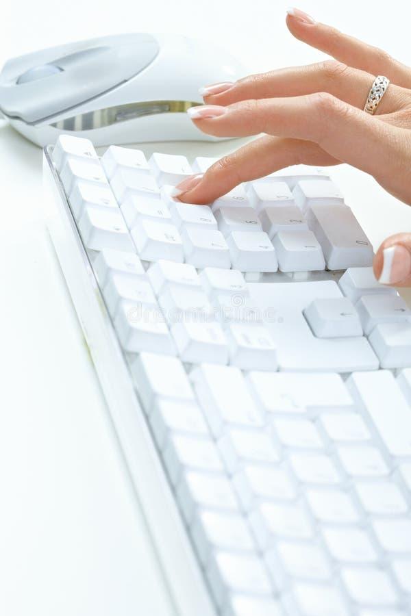 Weibliches Handschreiben stockfotos