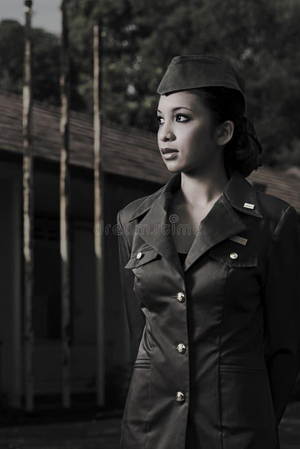 Weibliches Heerespersonal lizenzfreie stockfotografie