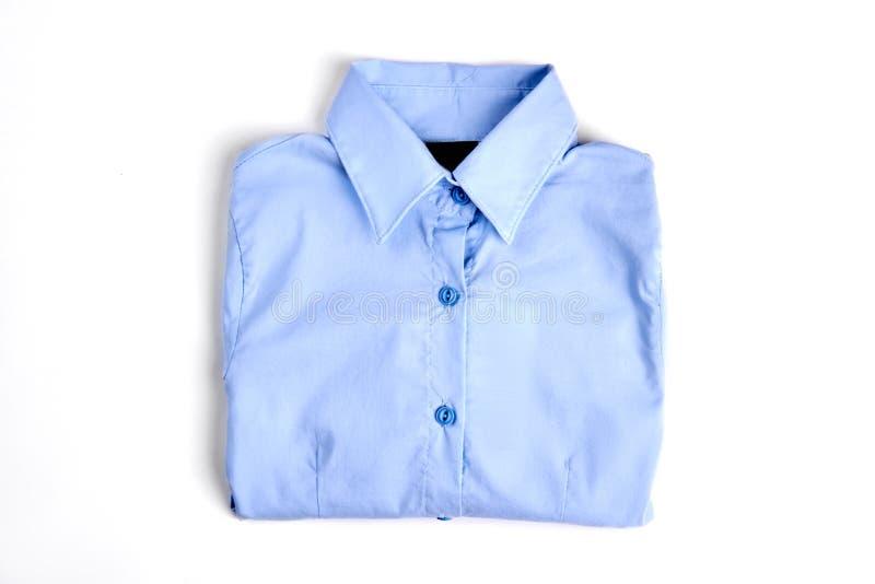 Weibliches hellblaues formales Hemd lizenzfreies stockbild