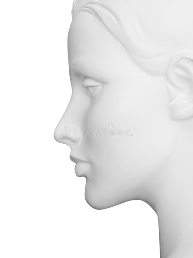 Weibliches Mannequin-Profil mit Ausschnittspfad stockbilder