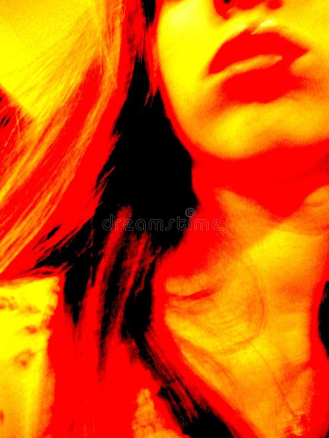 Weibliches Psyched lizenzfreies stockbild