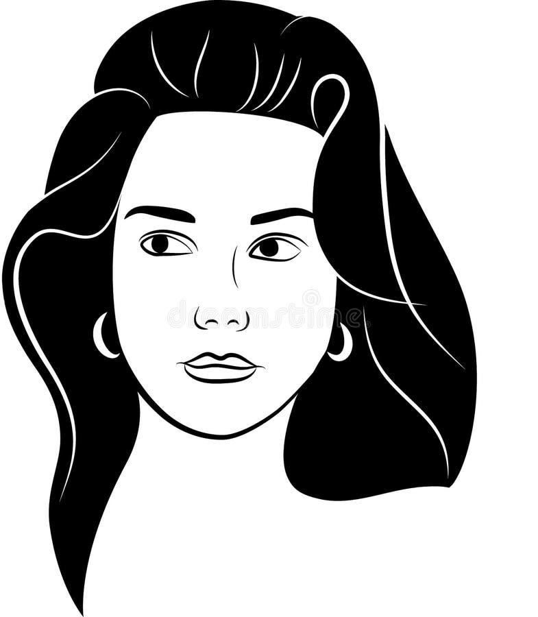 Weibliches Schattenbild der südlichen Frau stockfotografie