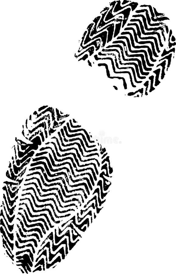 Weibliches shoeprint stock abbildung