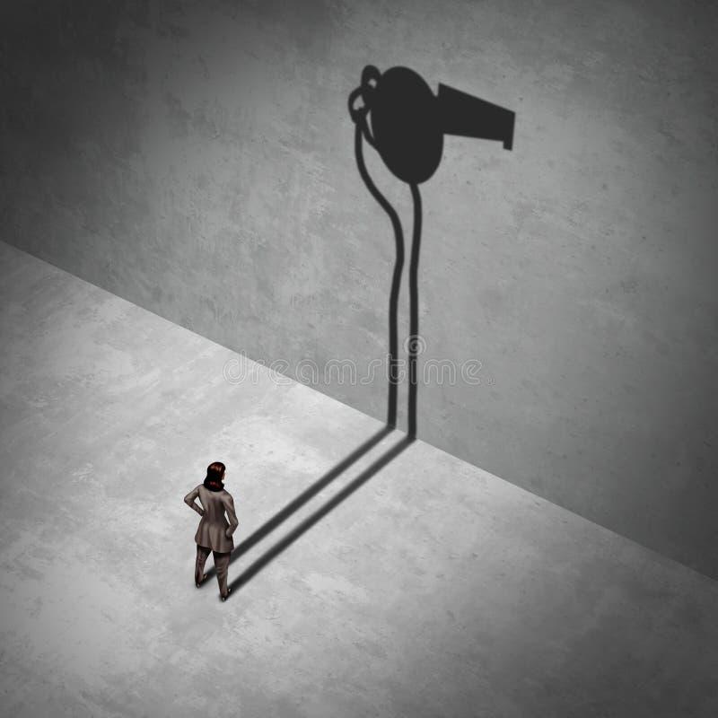 Weibliches Whistleblower-Symbol vektor abbildung
