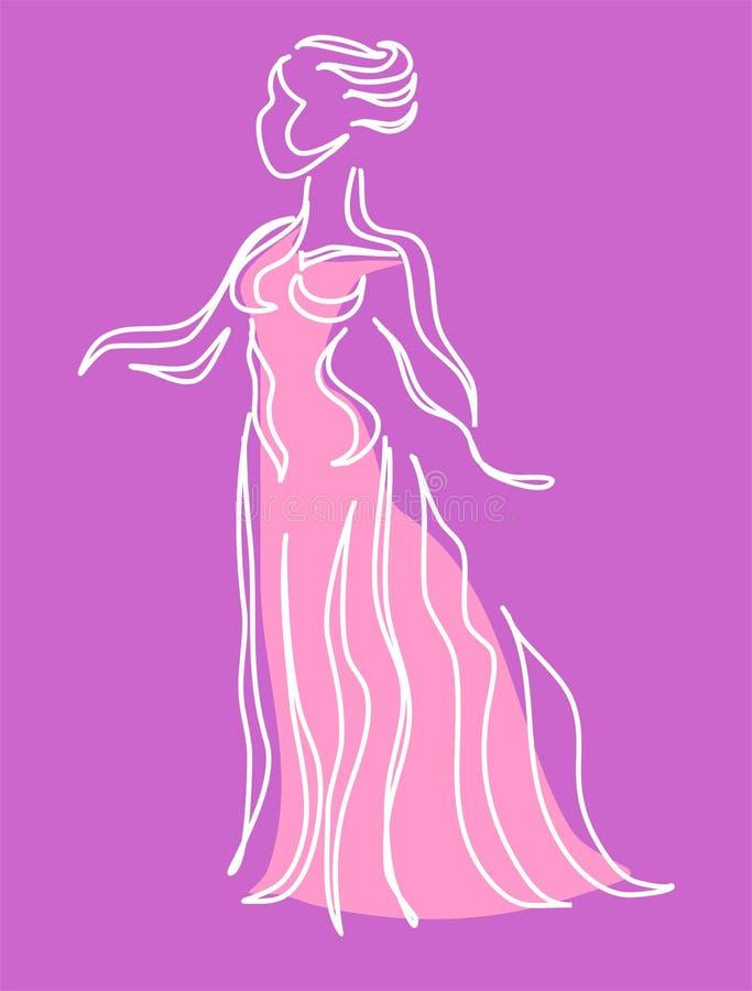 Weiblichkeit vektor abbildung