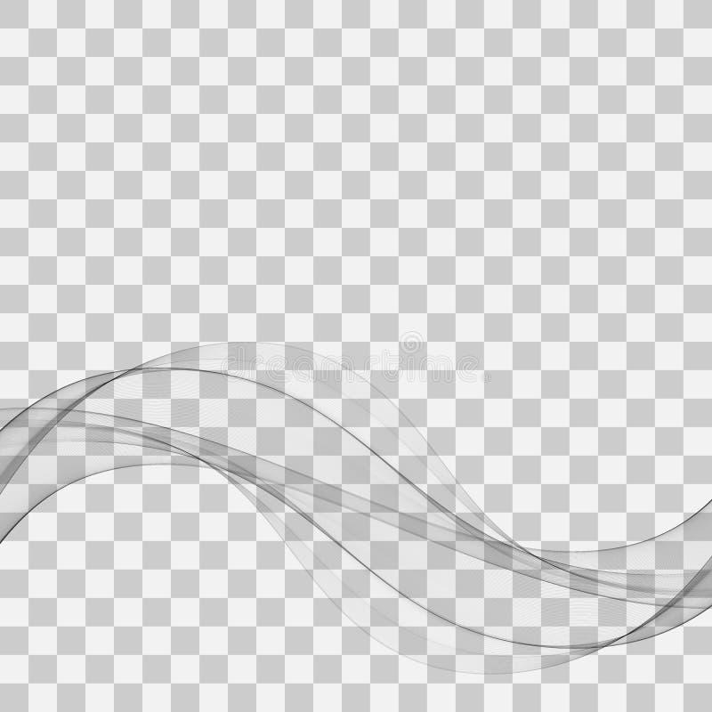 Weiche abstrakte Swooshwellenlinien grauer eleganter moderner Zertifikathintergrund des Grenzplans Auch im corel abgehobenen Betr lizenzfreie abbildung