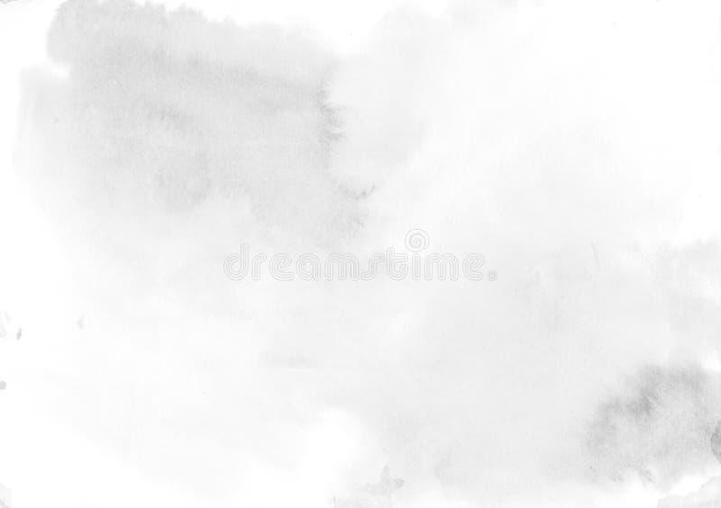 Weiche Beschaffenheit des grauen Aquarellhintergrundes - abstraktes Morgenlicht lizenzfreie abbildung