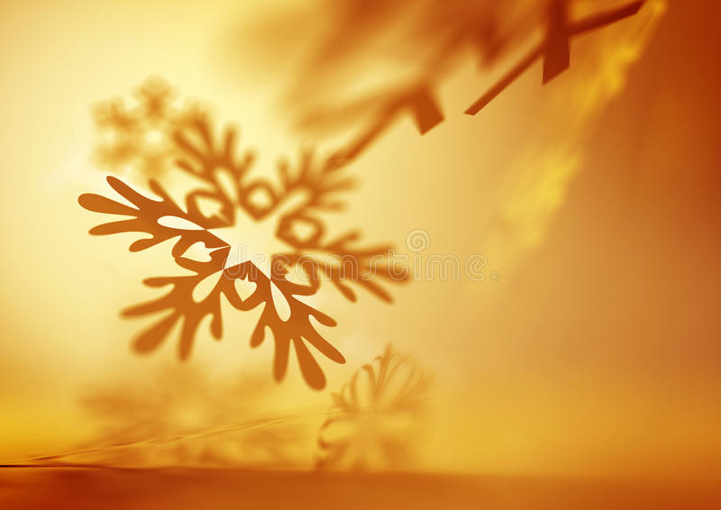 Weiche fallende Schneeflocken vektor abbildung