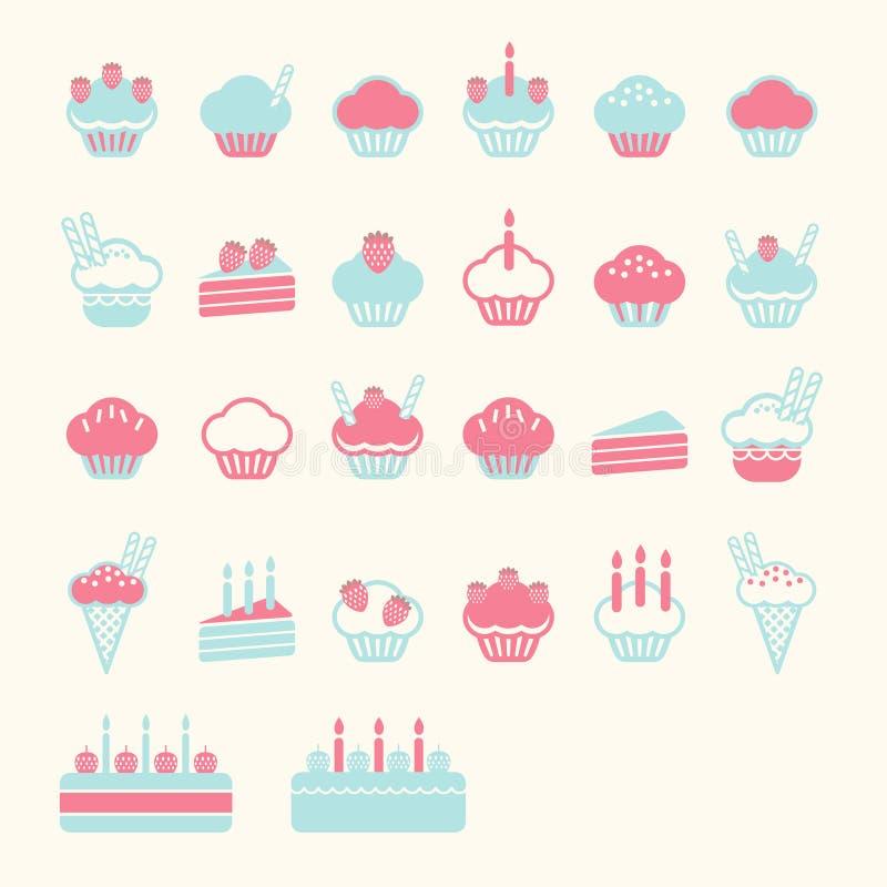 Weiche Farbe des Cupkuchens stock abbildung