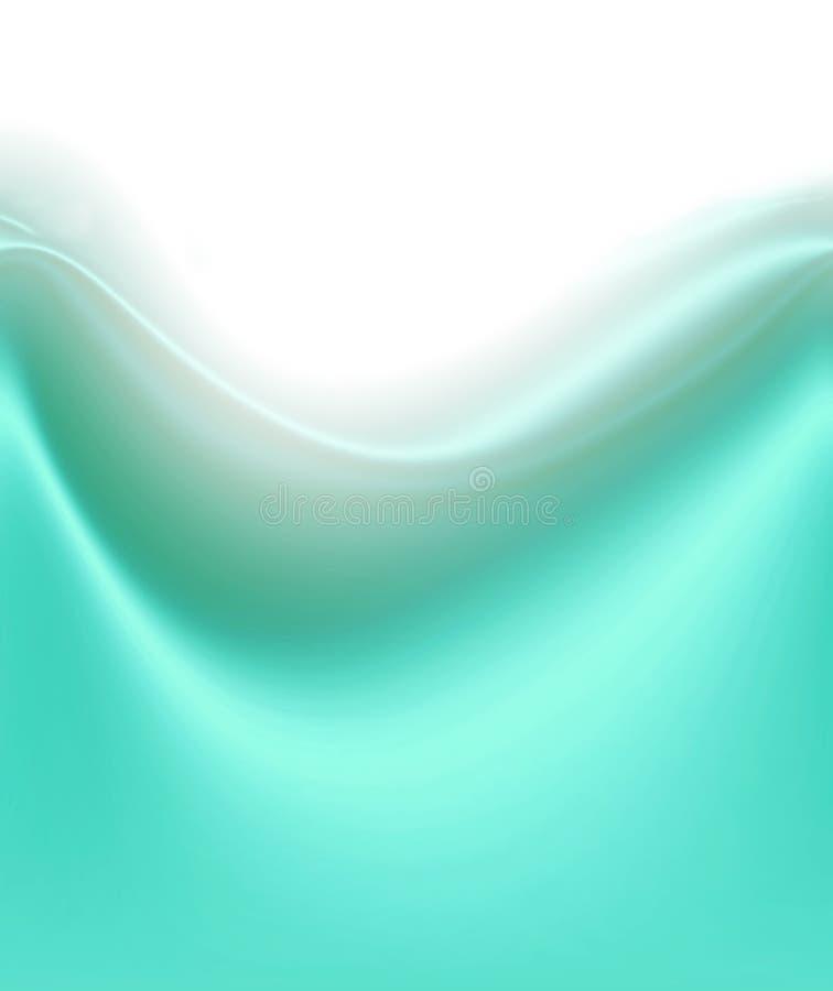 Weiche grüne Satin-Welle vektor abbildung