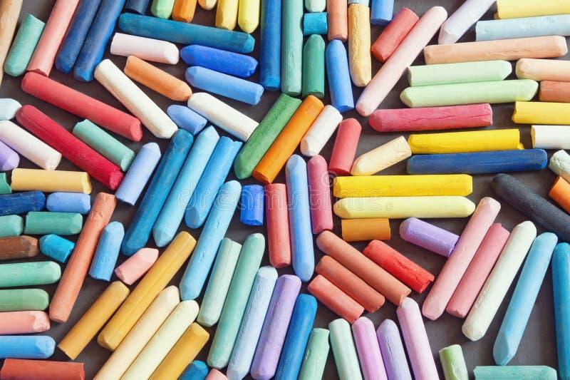 Weiche Pastellzeichenstifte für das Zeichnen, Hintergrund stockbilder