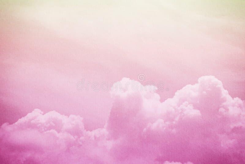 weiche Wolke und Himmel mit Schmutz tapezieren Beschaffenheit lizenzfreies stockbild